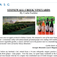 Stonewall Creek featured in Japan-American Society of Georgia Publication