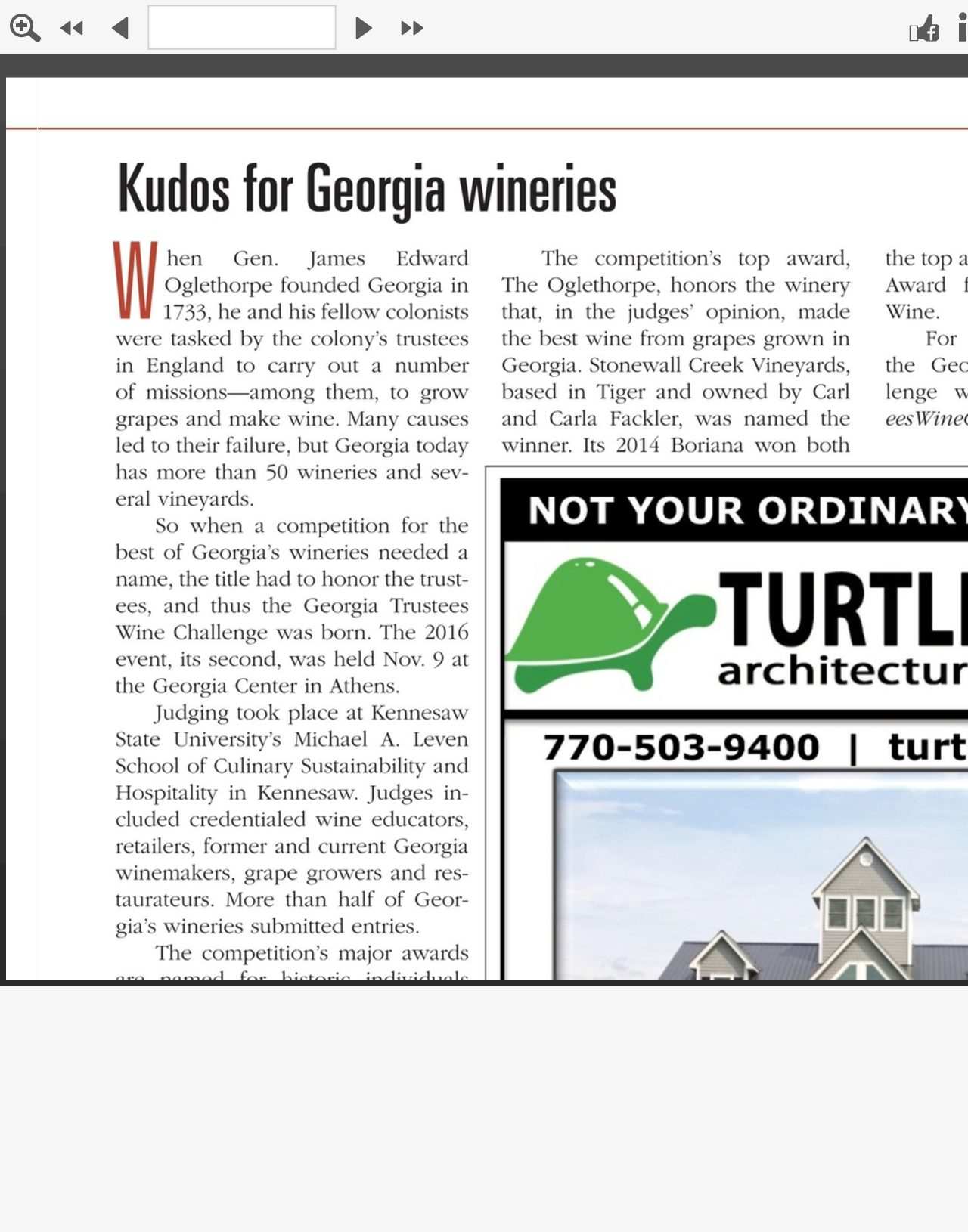 Stonewall Creek featured in Georgia Magazine