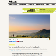 Tasting Room at Sautee Featured in Atlanta Magazine