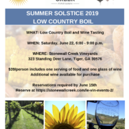 June 22: Low Country Boil SOLD OUT