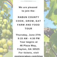 June 27: Grow Cook Eat Farm and Food Tours, Rabun County