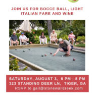 Aug 3: Bocce Ball Court Opening